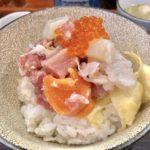 二度楽しめる海鮮丼!ボリューム特製海鮮丼→出汁茶漬けが超絶ウマい!