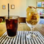 三鷹の「カフェシュヌルバルツ」グラスの中に自家製ケーキとアイスでひんやりタイム
